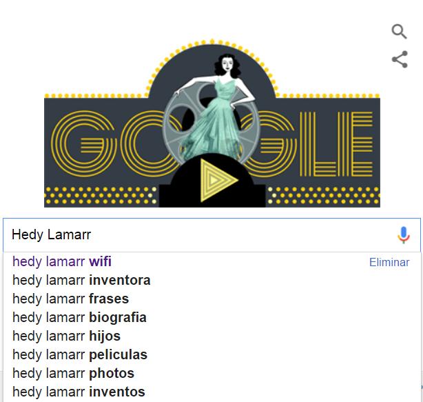 Lara Gracia Creazione Google Doodle Hedy Lamarr