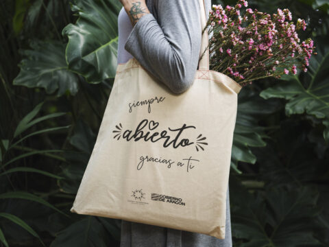 Design space on tote bag mockup